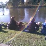 Lunchen aan het meer