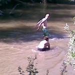 Zwemmen in Oude Maas